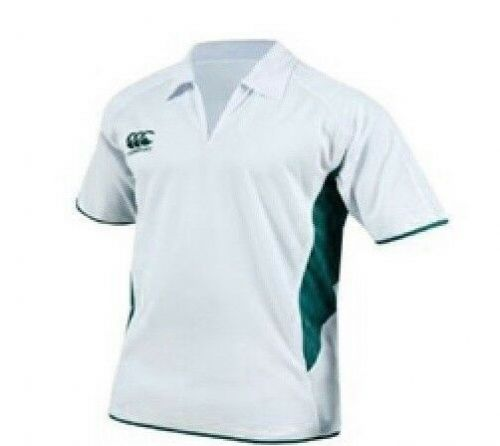 Canterbury Cricket Shirt Whites Age 6 Age 8 Cream / Forest Green BNWT free 1st d